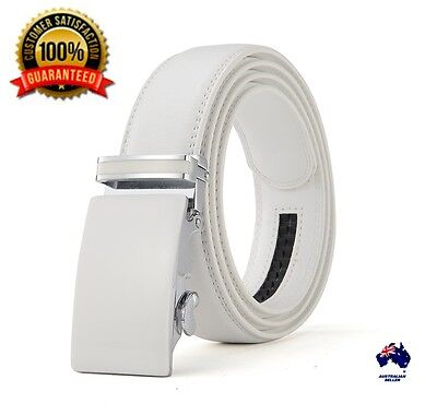 XHTang Fashion Mens Automatic Buckle Belt Genuine Leather Waistband Jeans Gift