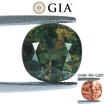 4.10Cts Gia Certified Natural Alexandrite Colour Change Oval Rare Gemstone