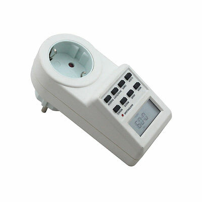 Plug-in Programmable Timer Switch Socket with Clock Summer Time Random Function
