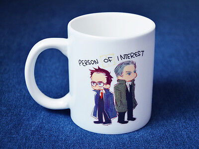 TV Serious Person of Interest POI John Reese Harold Finch Print Mug Cup Ceramics