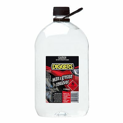 Diggers WAX & GREASE REMOVER Highly Effective Cleaner Surface Preparation 4L