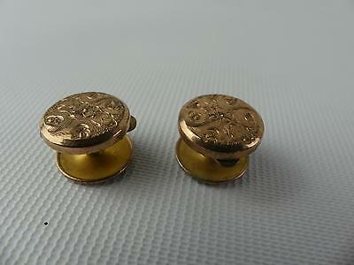 (ref165BU) 2 Antique Rolled Gold Batchelor Buttons