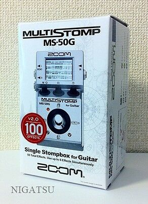 NEW ZOOM MULTI STOMP MS-50G Multi-Effects Guitar Pedal from Japan