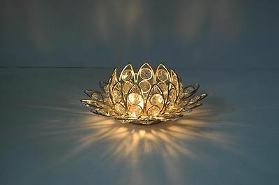 Lotus Flower Crystal Tealight Votive Candle Holders Wedding Centerpieces 3 Inch