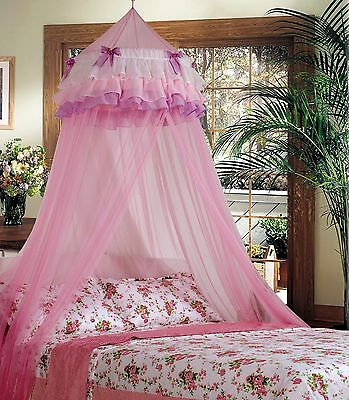 Mosquito Net Netting Mesh Fly Insect Protection Bed Canopy Round Dome Lace Net