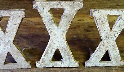 3 Architectural Salvage Victorian Cast Iron Roman Numeral/Numbers-Art/Clock Face