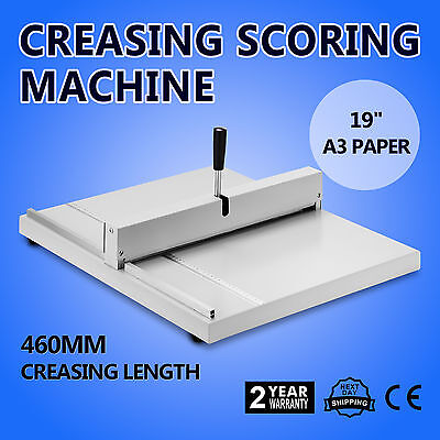 """19"""" Scoring Paper Creasing Machine Creaser Manual Back Support Industry Supply"""
