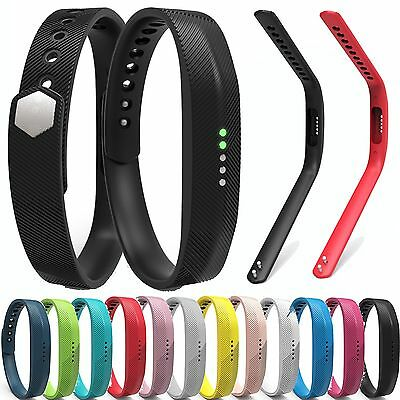 Silicone Replacement Band Wrist Strap For Fitbit Flex 2 Tracker Small/Large