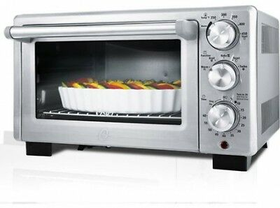 6-Slice Digital Toaster Oven Convection Home Kitchen Small Appliances Silver