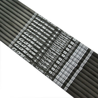 "12X 30"" Arrow Shafts Pure Carbon I.D.4.2mm Archery Hunting Shooting DIY 0.006"""
