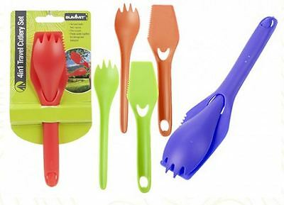 4 in 1 Travel Cutlery Set - 4 Assorted Colours - Summit
