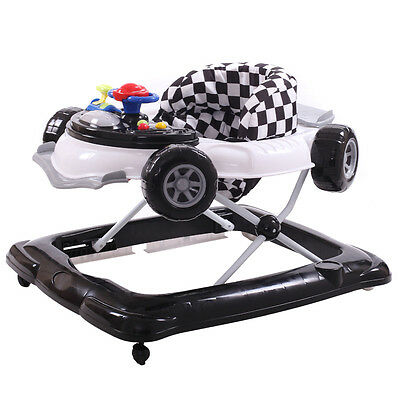 Baby Walker Race Car Activity Excercise Infant Walk Play Adjustable Size New