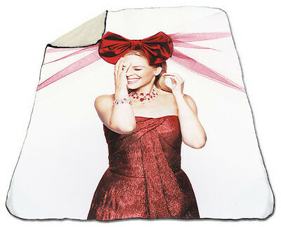 Kylie Minogue Winter Blanket NEW Fleece Warm 2 Hearts All The Lovers Christmas