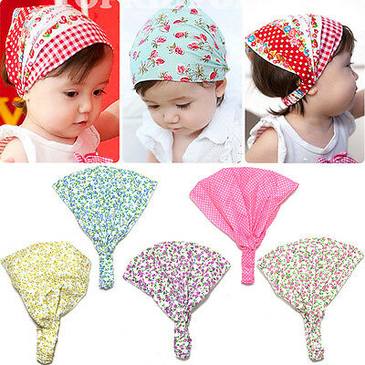 Baby Girls Floral Headscarf Headband Hair Bows Head Accessories Kerchief Scarf