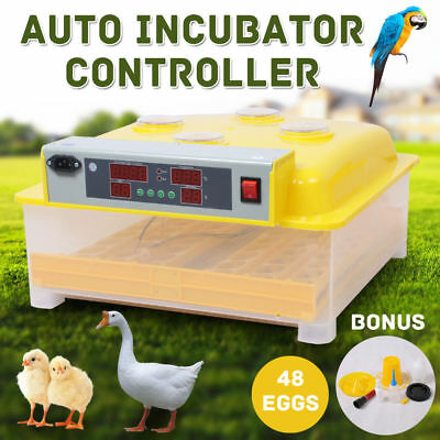 48 Egg Incubator Fully Automatic Digital LED Turning Chick Duck Eggs Poultry AU