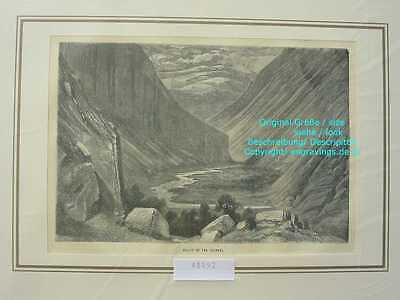 48892-Norwegen-Norway-Norge-Heimdal Valley-Holzstich-Wood engraving-1870