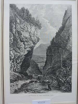 90539-Schweiz-Swiss-Switzerland-Gasteren Tal-T Holzstich-Woodengraving