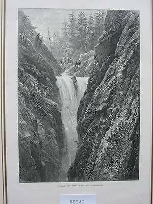 90542-Schweiz-Swiss-Switzerland-Aar-Handeck-T Holzstich-Woodengraving