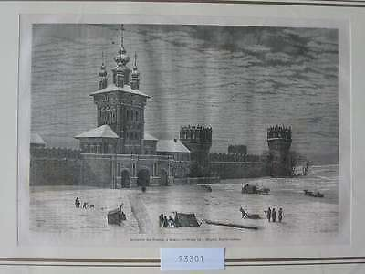 93301-Russland-Russia-Kloster Moskau Moscow-T Holzstich-Wood engraving