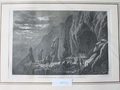 92775-Amerika-America-Chile-Osterinseln-Easter Island-T Holzstich-engraving