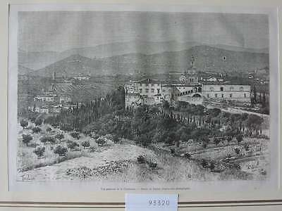93320-Italien-Italy-Italia-Toskana-Chartreuse-T Holzstich-Wood engraving