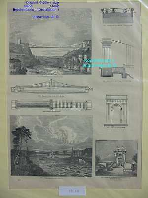 33568-Schweiz-Swiss-Switzerland-Freiburg-Brücken-Bridge-TH-Wood engraving