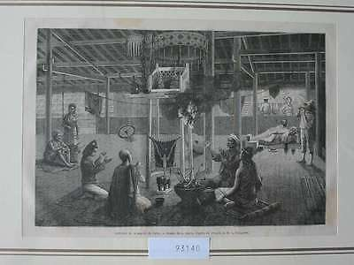 93140-Asien-Asia-Indo-China-Pagode Paleo-T Holzstich-Wood engraving