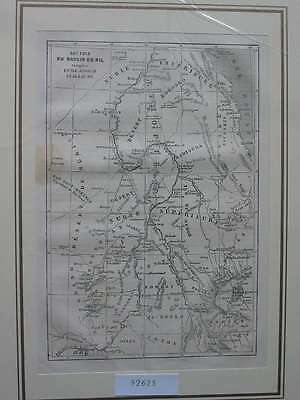 92625-Afrika-Africa-Nil-Nile-Karte-Map-T Holzstich-Wood engraving