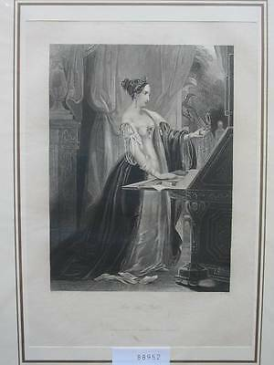 88960-Frauen-Woman-Love and Pride-Stahlstich-Steel engraving