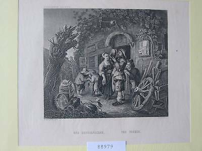88979-Der Kesselflicker-The Tinker-Stahlstich-steel engraving