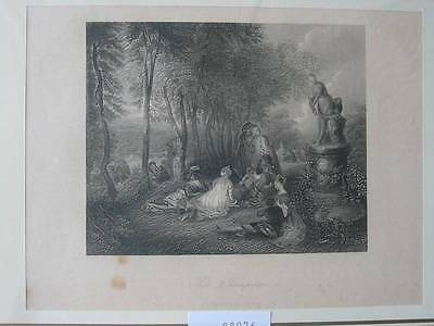 88976-Fete Champetre-Stahlstich-steel engraving