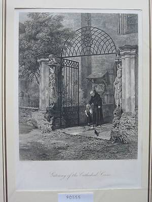 90555-Frankreich-France-Française-Coire Cathedral-Stahlstich-Steel engraving