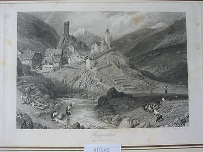 90543-Schweiz-Swiss-Switzerland-Hospental-Gotthard-Stahlstich-Steel engraving