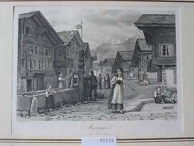 90536-Schweiz-Swiss-Switzerland-Meyringen-Stahlstich-Steel engraving