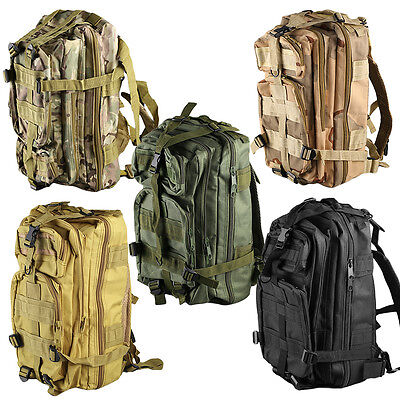 Outdoor Multifunctional Sports Camping  Hiking Bag Military Tactical Backpack DE