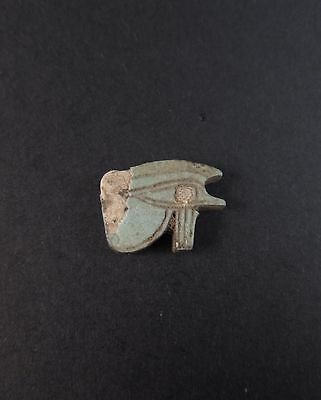 Superb ancient Egyptian faience eye of horus amulet