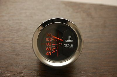 Veglia water temperature gauge 52mm Fiat Alfa Romeo Lancia, Used