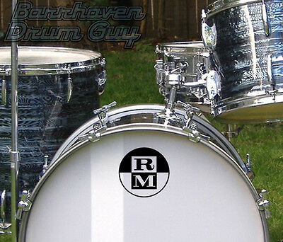 Rose Morris, Vintage, Repro Logo - Adhesive Vinyl Decal, for Bass Drum Reso Head