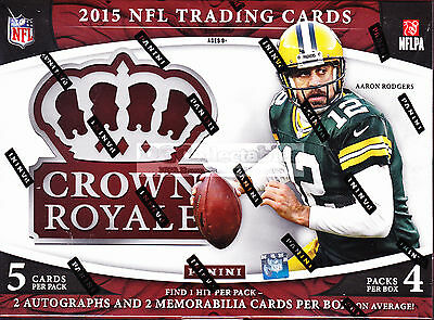 2015 Panini Crown Royale Football Gridiron Nfl Factory Sealed Hobby Box New Wow