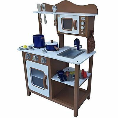 Timber Kids Wooden Play Cooking Kitchen Set Toy Childrens Wooden Pretend Play
