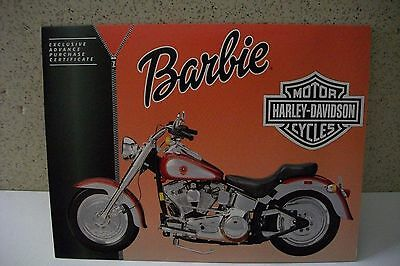 Harley-Davidson BARBIE  Exclusive Advance Purchase Collector Certificate