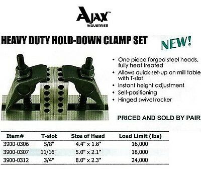 Heavy Duty Hold Down Clamp Kit For All Bridgeport 5/8""