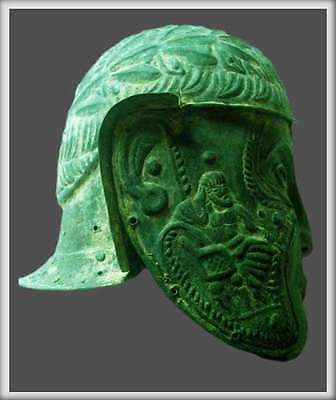 Bronze roman helmet artifact collectible