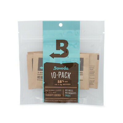 Boveda 58% RH 2-way Humidity Control, 8 gram - 10 Pack