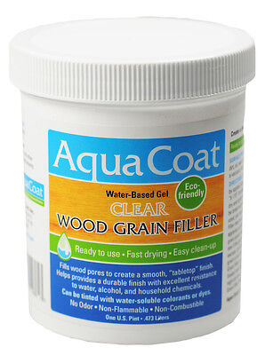 Aqua Coat Water Based Clear Wood Grain Filler Pint