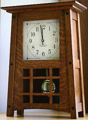 Amish HANDCRAFTED AMERICAN MADE McCoy Mantle Clock / Shelf Clock
