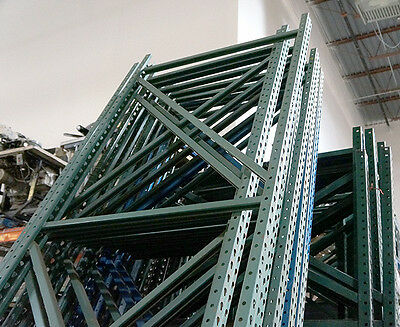 PALLET RACKING - Large Lot of Warehouse Racking w Uprights and Beams Pallet Rack