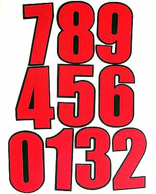 Red Numbers Iron On Patch Embroidered Crafts Art Birthday Applique Patches Sew