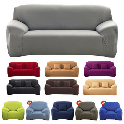 Sofa Couch Slip Over Easy Fit Covers Elastic Fabric Stretch Settee Protector UK