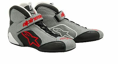 Alpinestars Auto Racing Shoe  Tech 1-T Size 10.0 Gray/Black    NEW